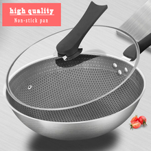 Stainless steel frying pan set pot uncoated non-stick pan household cooking pot with induction cooker pan kitchen pot stainless steel frying pan set pot uncoated non stick pan household cooking pot with induction cooker pan kitchen pot