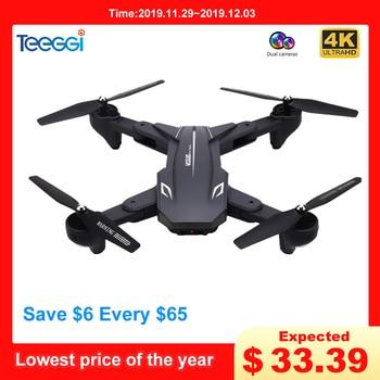 Cuaderno visual XS816 WiFi FPV Drone RC Drone 4 K cámara de flujo óptico 720 P Cámara Dual RC Quadcopter plegable Selfie RC del XS809S XS809HW SG106