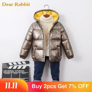 Image 1 - 2020 패션 가을 겨울 소년 아기 코트 오리 자 켓 야외 의류 방수 옷 소녀 아이 Snowsuit 등반