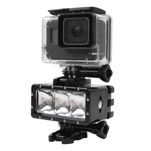 Image 5 - 2019 New for GoPro Diving flashLight lamp Waterproof LED Flash Video Light For GoPro Hero 9/8/7/6/5/4/3 SJCAM SJ4000/Xiaomi Yi