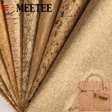 Meetee 200X137cm 0.5mm gruby naturalny korkowy materiał ze skóry DIY torby buty bagaż Handmade Craft Wood Grain Decor materiał dostawa