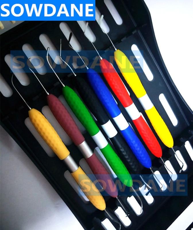 Dental Composite Resin Filling Spatula Aesthetic Restoration Set Resin Filler Set Dental Tool Restoration Spatula