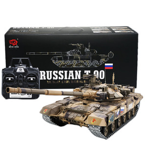 Image 2 - Tanque de batalla principal T90 de 2,4G con Control remoto, tanque con sonido y efecto de disparo de humo, Metal, edición definitiva, Rusia, 1:16