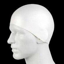 Schützen Ohren Haar Latex Flexibilität Schwimmen Pool Kappen für Frauen Männer Schwimmen Hüte Unisex Erwachsene Weiß Trägt Bade Kappe