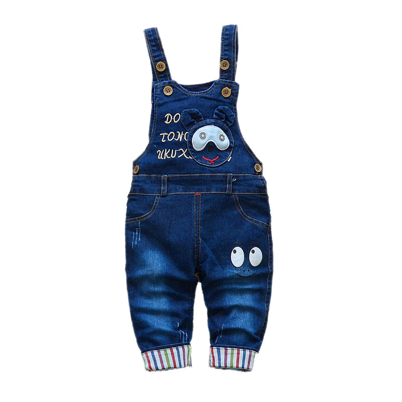 Children's Denim Overalls Baby Jeans Pants Baby Boys Girls Trousers Infant Clothing Toddler Babies Pants Little Kids 1-3 Years 5
