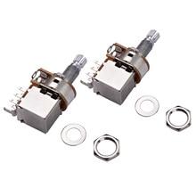 Guitar Copper-Potentiometer Switch-Pots Accessaries Electric-Guitar-Bass 2pcs Volume-Tone