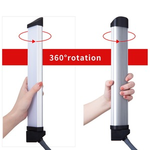 Image 4 - Photo Studio Double Arms Fill Selfie Ring light with 200cm Tripod Long LED Strips add Stand 3000K 600K LED For Camera