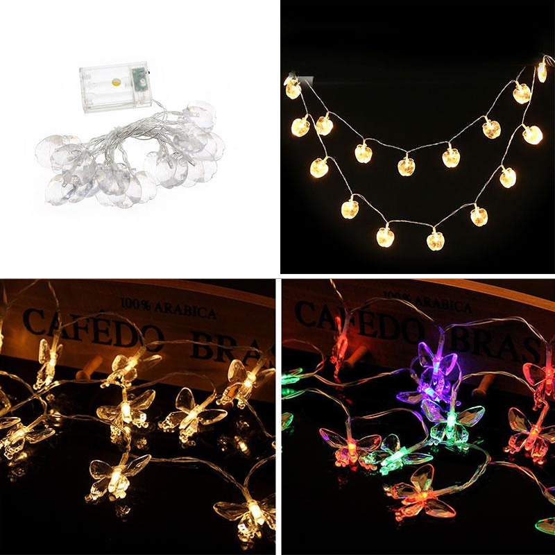 Waterproof LED Butterfly Shape Light String Festival Decoration Romantic