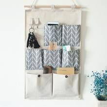 Настенные сумки для хранения с 7 / 3 карманами хлопково льняной