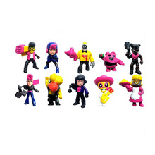 12pcs/lot Hot! Brawl Game Cartoon model Star Heros PVC Dolls Kawaii Figure Toys Birthday Gift Toys for Children