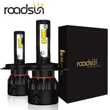 Roadsun 車のライト led H4 H7 H11 H1 9005 9006 HB3 HB4 led ヘッドライト電球 lumileds 社と zes チップ 12 12v 6000 3k ブライト自動スポットランプ