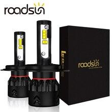 Roadsun phare LED pour voiture H4 H7 H11 H1 9005 9006 HB3 HB4 phare LED Ampoule Avec Lumi LED s ZES Puce 12V 6000K Automatique Lumineuse Lampe de Tache
