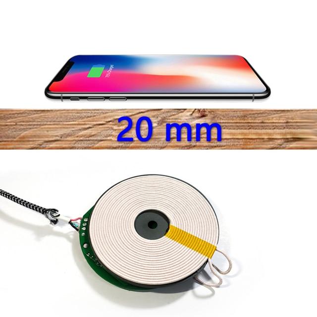 2CM QI kablosuz şarj PCBA devre kartı DIY Samsung S20 S10 S9 Note10 iPhone XR XS 11 Pro max 10W hızlı kablosuz şarj