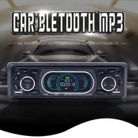 Lettore MP3 Stereo per auto Bluetooth lettore Audio Stereo con Radio FM AUX TF Card U Disk Play telecomando microfono incorporato
