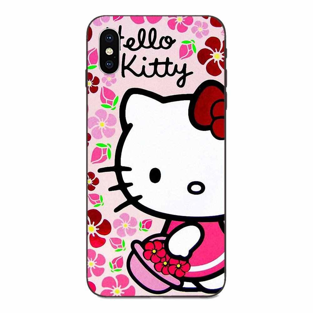 Pour Xiaomi Redmi Note 3 3 S 4 4A 4X5 5A 6 6A 7 7A K20 Plus Pro S2 Y2 Y3 TPU Souple Mode Portable coque de téléphone J'aime Bonjour Kittys