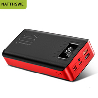 NATTHSWE Power Bank Portable 30000 MAh for All Xiaomi Smart Phone Battery Powerbank Fast Charging External Battery