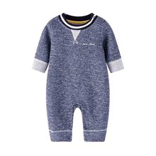 Autumn Baby Clothes Soft Cotton Knitted Newborn Boys Rompers Long Sleeve Toddler Girls Jumpsuits One Piece Children Overalls 0-6 цена