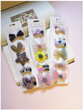 New various Children hair accessories 5pcs/set clips for girls baby hairpin barrettes toddlers headdress