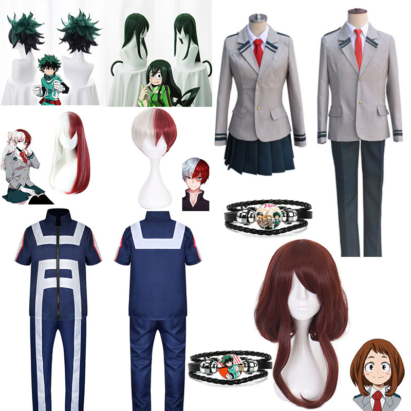 Boku No Hero Academia My Hero Academia Gym Suit High School Uniform Sports Wear Outfit Anime Cosplay Costumes Accessory Bracelet