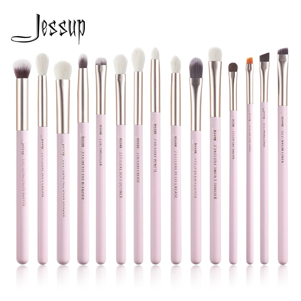 Jessup Juego de Brochas de maquillaje, 15 Uds., maquillaje profesional de ojo, sombra de ojos, delineador de ojos, mezcla de cejas, corrector, Brochas|rizador de pestañas| - AliExpress