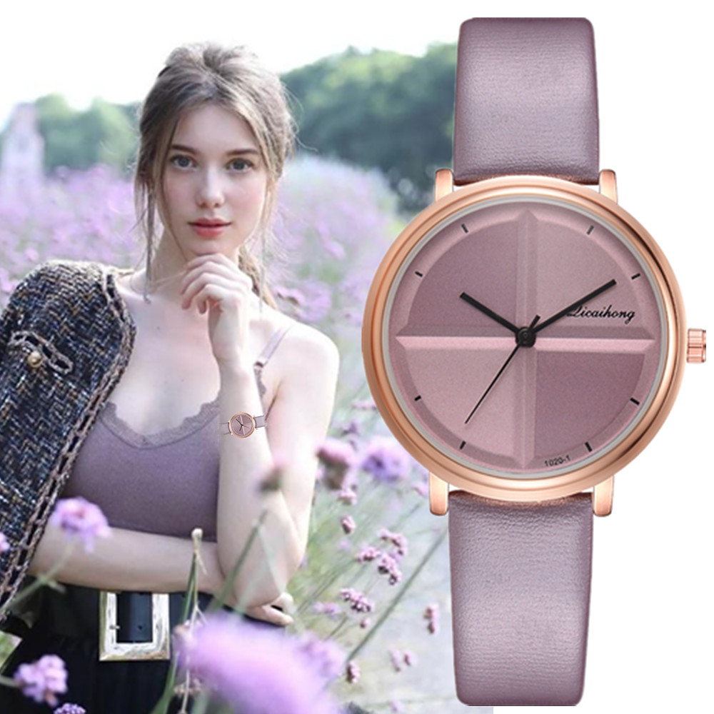 Ladies Watches 2019 New Stylish Women's Watches Leather Watchband Analog Quartz Clock Reloj Mujer