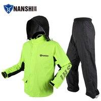 Motorcycle Waterproof Raincoat Reflective Hooded Overall Fabric Raincoat Outdoor Hiking Jacket Impermiable Rain Gear JJ60RC