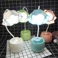 Перезаряжаемый светодиодный Настольный светильник Usb настольная лампа с сенсорным управлением для спальни прикроватные детские лампы для ...
