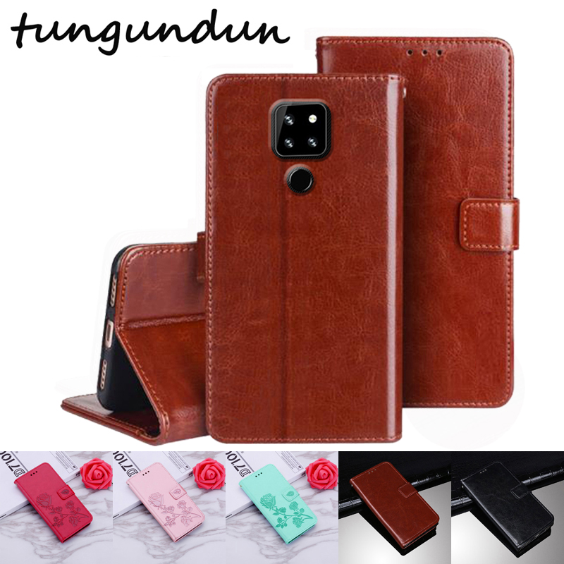 """Luxury Wallet Cubot P30 Case 6.3"""" Vintage Flip Leather Cases Business Protective Cover With Front Card Slots Phone Book(China)"""
