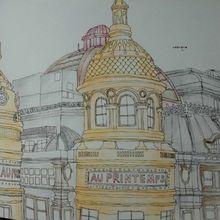 Paris Secrets Travel Unpacking Coloring Book Architecture Hand-painted Books Album Graffiti Painting D08B