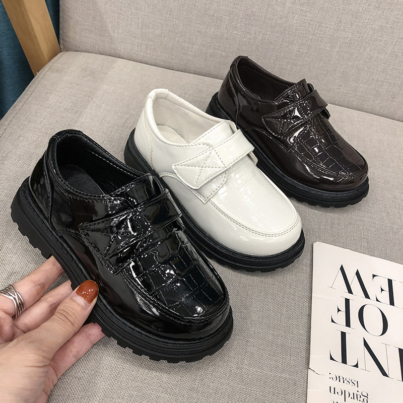 moda sapatos de couro patente criancas sapatos 04