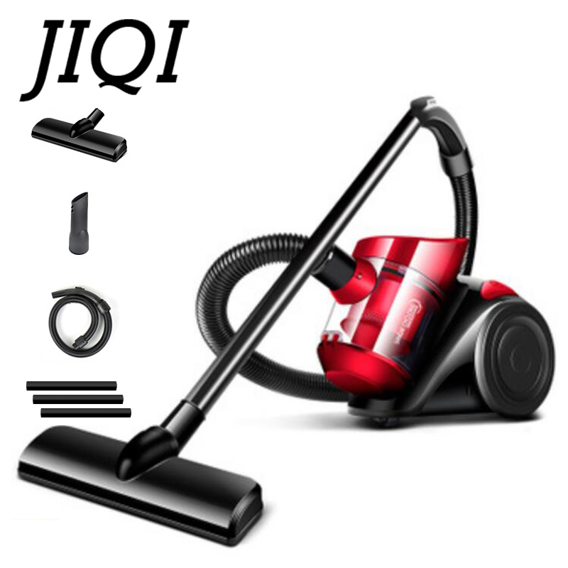 JIQI Rod Drag Vacuum Cleaner Handheld Electric Suction Sweeper Machine Carpet Dust Collector Catcher Aspirator Brush Duster EU