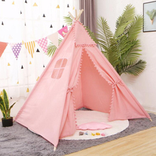 LazyChild 1 3 1 6m Portable Children #8217 s Tents Teepee Tent For Kids Play House Wigwam For Children Kids Tent cheap LISM Wood and cloth CN(Origin) Keep Away From Fire 0-12 Months 13-24 Months 2-4 Years 5-7 Years 6 years old WG-003 Foldable
