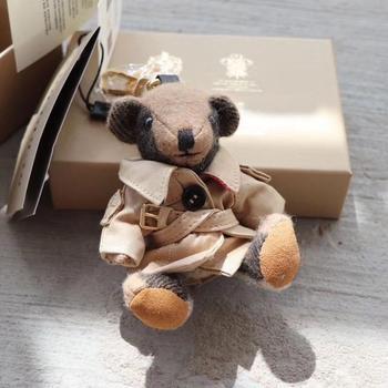 Kawaii Bag Charm Chain Vintage Cartoon Bear Toy Doll Car Ornaments for Best Friend Gift Keyring Women Accessories 2020
