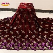 Niai 2020 бархатные кружевные ткани в нигерийском стиле Высококачественная