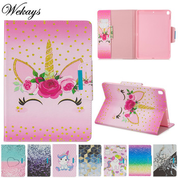 Wekays Cover For Coque Apple Ipad 9.7 2018 Cartoon Unicorn Leather Fundas Case For IPad 9.7 inch 2017 A1822 A1823 Cover Cases wekays for apple ipad mini 4 cute cartoon unicorn leather fundas case sfor coque ipad mini 4 tablet cover cases for ipad mini4