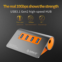 samsung note 3 ORICO USB 3.1 Gen2 HUB Aluminum USB HUB PC Splitter 10Gbps Super Speed With 12V Power Adapter for Samsung Galaxy S9/S8/Note (2)