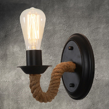 Nordic Vintage Wall Lamp E27 Rustic Wall Sconces Bedside Lamp Wrought Iron Wall Indoor Lighting Retro