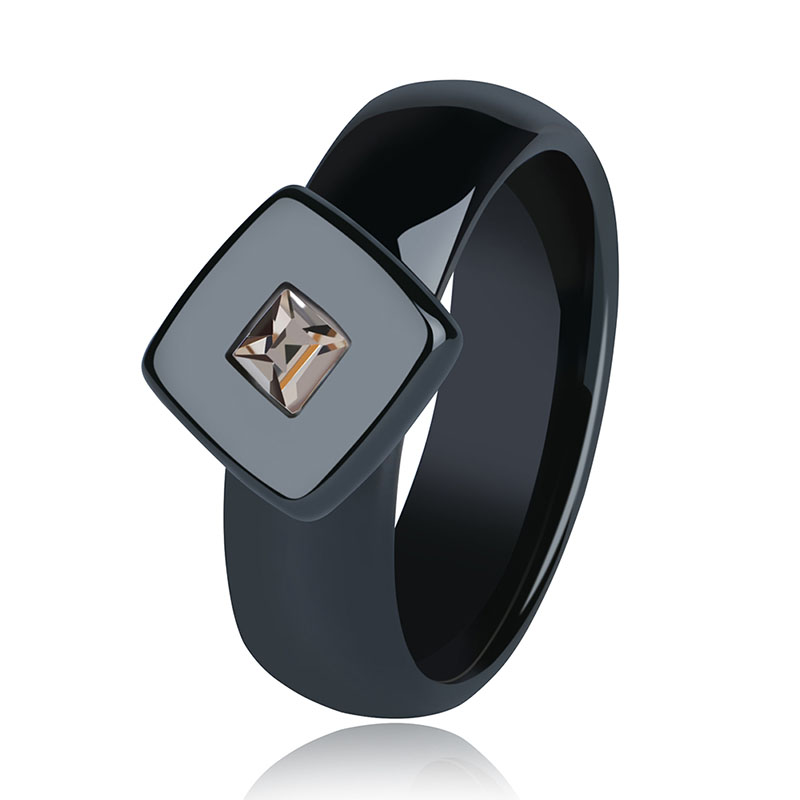 Special Brand Design 6mm White Black Ceramic Ring Wedding Engagement Men Women Rings Fashion Classic Anillos Jewelry Gift