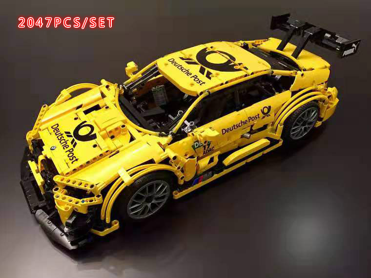 MOC Technic M4 Sport Cars Vehicle RC Motor Power Function MOC-4142 Building Block Bricks Toy Kid Gifts