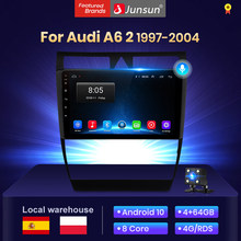 Junsun V1 4g 4G + 64G 2din Android 10 radio coche con reproductor multimedia pantalla para Audi A6 C5 1997 - 2004 automóvil android auto/bluetooth/carplay/gps navegación stock in spain