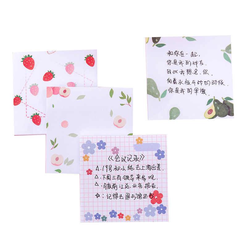 1 pièces mignon Kawaii sud-coréen petite fleur bloc-Notes fille coeur Notes autocollantes N fois étudiants autocollant nouvelle arrivée offre spéciale