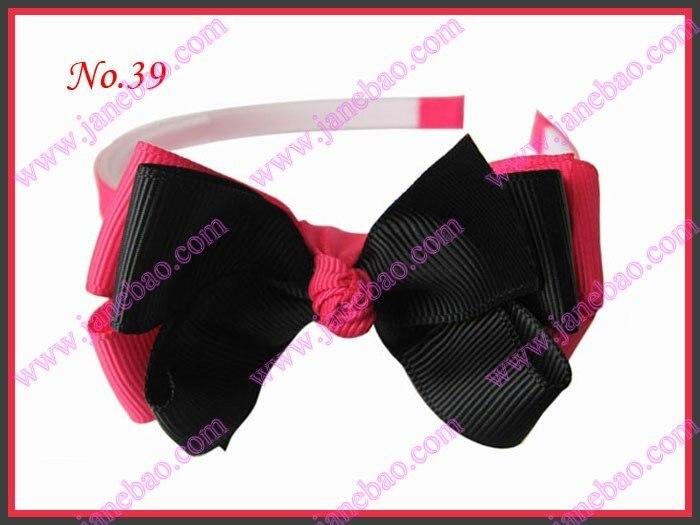 """; 25 шт.; Изысканная повязка на голову для девочек 3-3,"""" ; двухцветная двойная заколка для волос с бантом"""