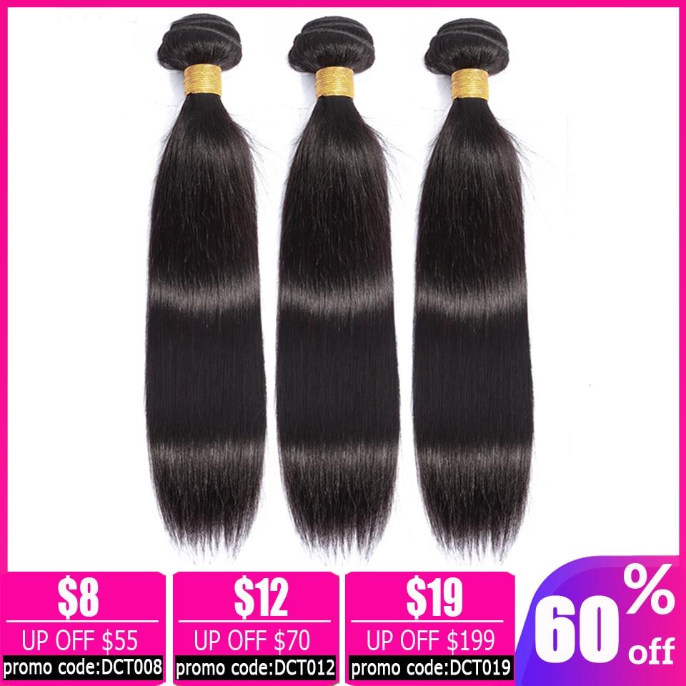 LEVITA Straight Hair 3 Bundles Deals 100% Human Hair Bundles Bundles Brazilian Hair Weave Bundles Non-remy Hair Extension