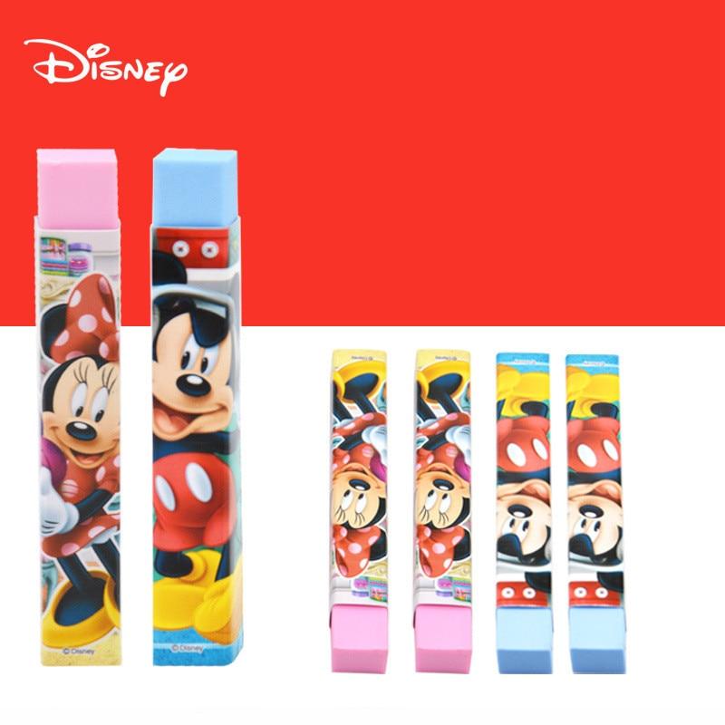 1pc Genuine Disney Cartoon Character Eraser Mickey Minnie Student Cute School Supplies Rubber For Kids Gift