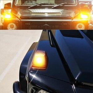 Image 5 - IJDM ön dönüş sinyal ışığı kapakları w/süper parlak 7507 hata ücretsiz LED ampüller 1986 2018 Mercedes W463 G sınıfı G500 G550 G55