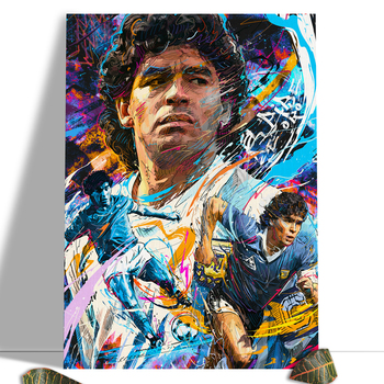 Diego Maradona Football Poster Canvas Comics Printed sports Decoration Painting Home Wall Living Study Room Child Room Bedroom 6