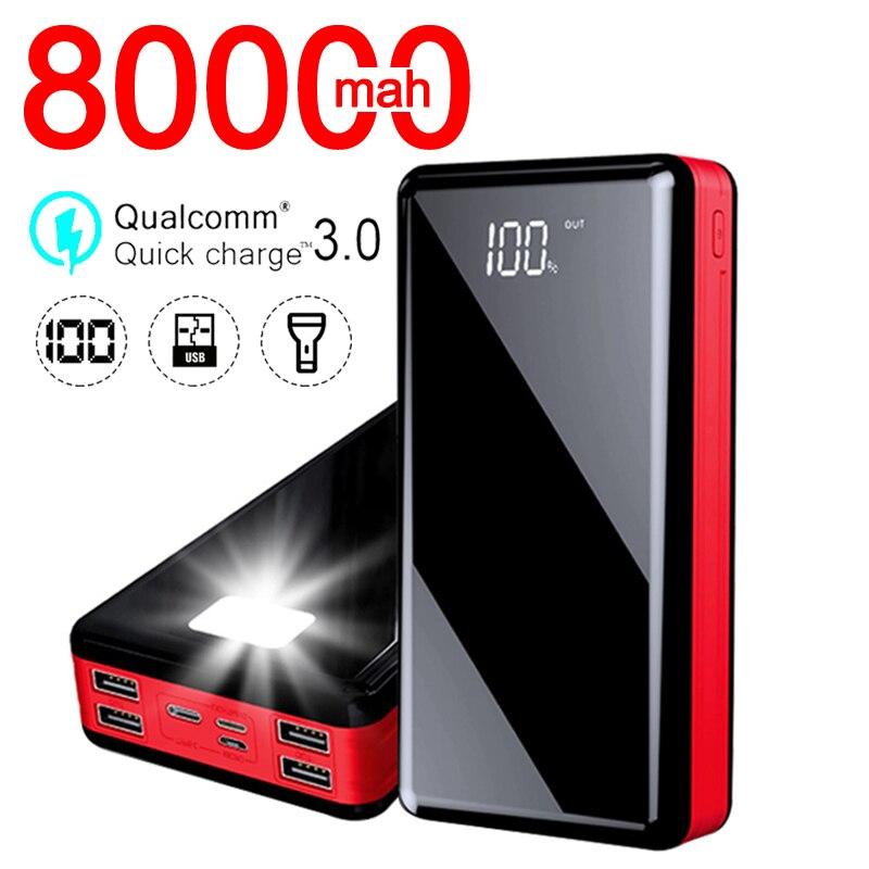 Chargeur rapide de Powerbank de voyage de téléphone Portable de banque de puissance de capacité élevée de 80000mAh pour le Mobile de Xiaomi / Samsung / IPhone