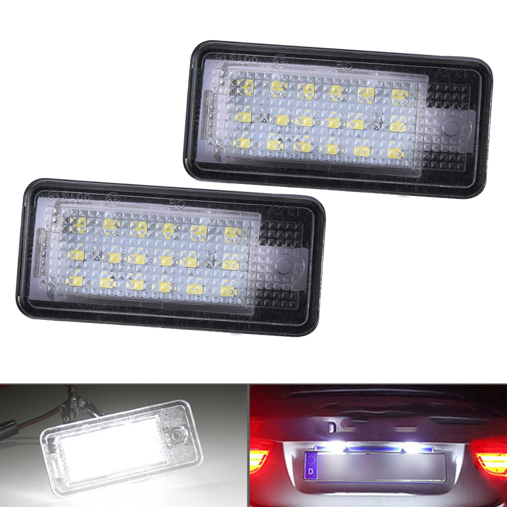 18 Smd LED Rear Number Licence Plate Units Replacement For Audi A4 B6 01-05