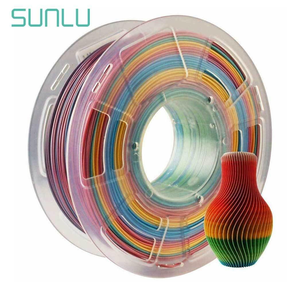 1.75mm Rainbow Gradient Multicolor PLA Filament 1KG 2.2LB 3D Filament Materials For DIY 3D Printer FDM And 3D Printing Pen