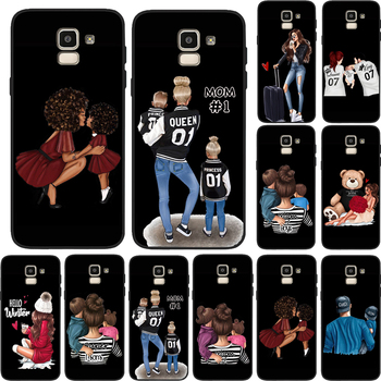 Case Luxury Girl Dad Mom Boys Super Baby Queen For Samsung Galaxy Note 9 A7 2018 A6 A5 A9 S6 S6Edge A8 Plus 2018 Note 8 10 Etui image